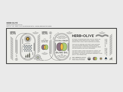 Organic EVOO Label typography type black flat simple package design illustrator purple yellow green olives organic storytelling vectors olive oil branding label design
