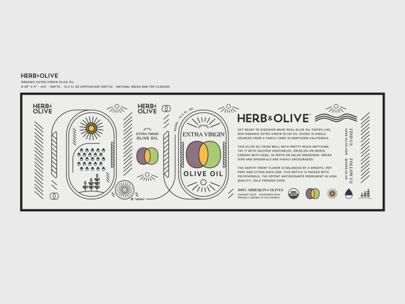 Organic EVOO Label typography type black flat simple package design illustrator purple yellow green olives organic storytelling vectors olive oil branding label design