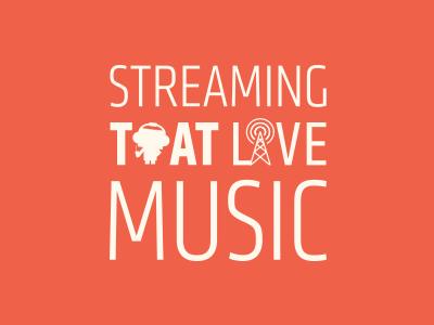 Radiobox Print Ad print advert ad vector orange live music streaming type typography
