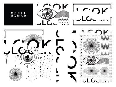 Mentl Nomad Look Closer CNFT vector flat design illustrator collection drop flat black digitalart jpeg nft cardano