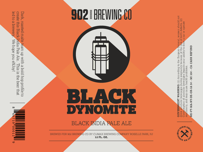 902 Brewing Co. Label Concept free time concept small business update drink local microbrew black orange label beer craft beer
