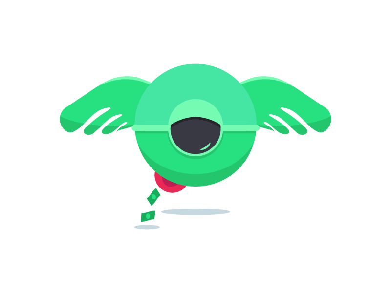 Watchful Eye v2 update wip illustrator creature eye green monster logo vector mark freelance