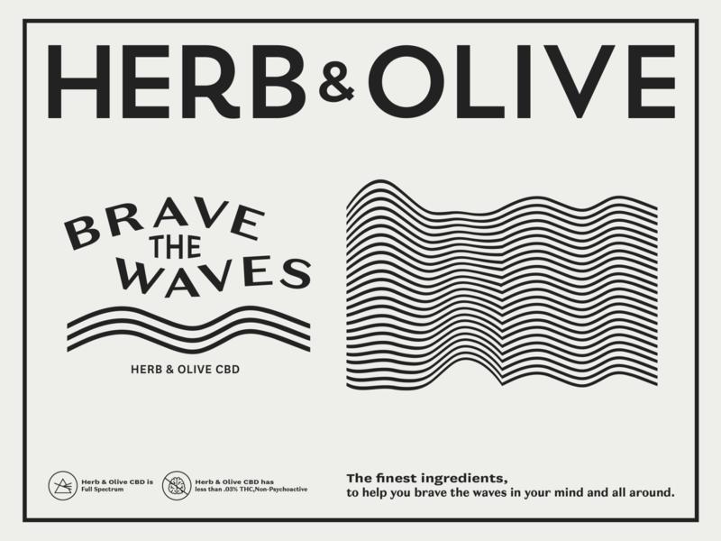 Brave the Waves mental health white illustrator typography flat design logos branding cannabis black vectors tshirt brave waves cbd