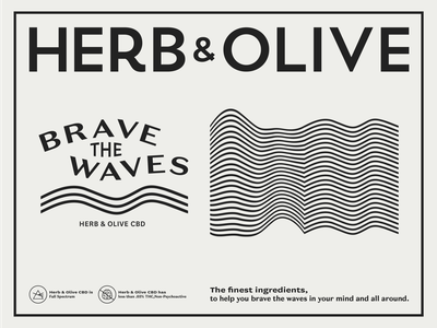 Brave the Waves mental health white illustrator typography flat design logos branding cannabis black vectors tshirt brave waves cbd