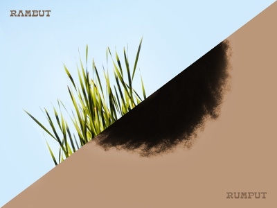 Rumput/Rambut rambut rumput hair grass indonesia indonesian illustration concept