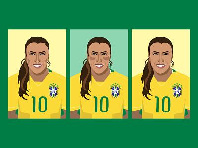 Marta Sketches marta brazil 2014 womens soccer illustrator sketch sports illustrations soccer