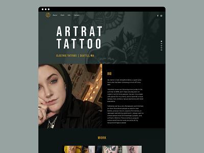 Art Rat Tattoo Website tattoo artist layout tattoo art website tattoo tattoos