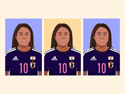 Homare Sawa Sketches illustrator sketch sports illustration womens soccer soccer