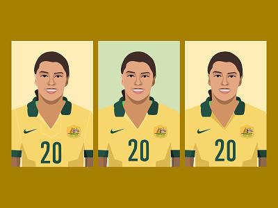 Sam Kerr Sketches australia womens sports sketch sports illustrations illustrator womens soccer soccer