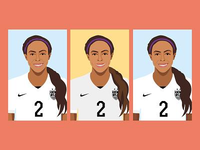 Sydney Leroux Sketches uswnt usa womens soccer sports sketch illustrations illustrator soccer