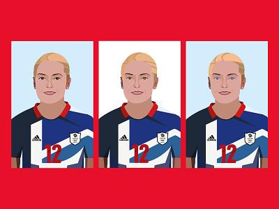 Kim Little Sketches illustration soccer illustrator illustrations womens soccer sports sketch