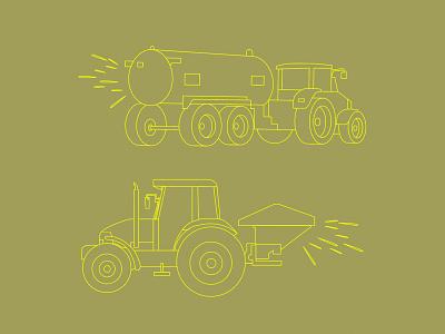 Farm Trucks tractor farming farm trucks outlines illustration