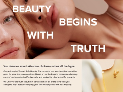 About Us Page Layout Exploration beauty product beauty skincare website layout exploration layout design layout