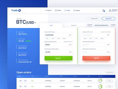 Crypto trading dashboard web ux ui dashbaord trade design cryptocurrency crypto
