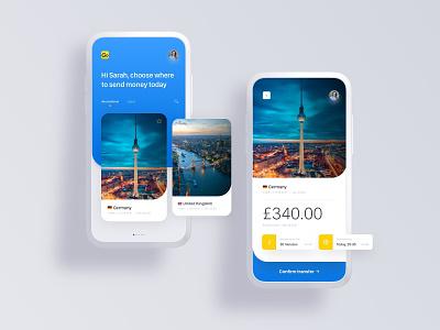 TransferGo Money Transfers money transfer money app money send remittance mobile ux ui app