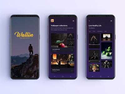 Wallin - Your daily advisor gallery list mobile ui app