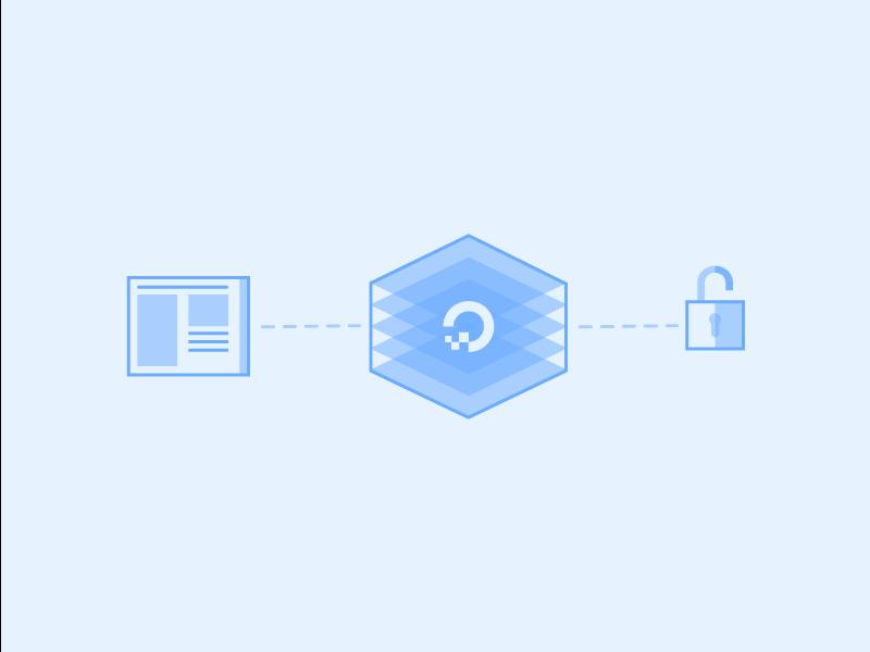 Web Server Security web connection blue website security digitalocean