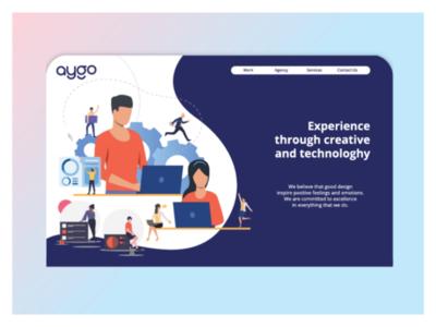 UI design_aygo landing page website