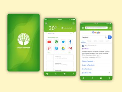 Green browser_ui design