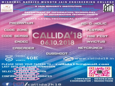 CALLIDA'18 Official Poster 1