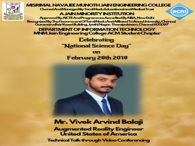 National Science Day Event Poster