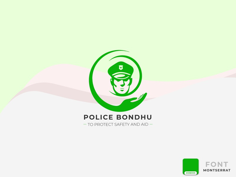 Police Bondhu Logo Design for Android Apps