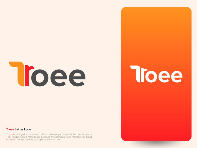 Troee Logo Design app icon clean logo letter logo herbal logo oraganic logo creative logo design logo creative logo logodesign logo design concept elegent logo corporate logo design corporate logo logo design