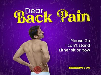 Back Pain Poster Design clean poster design corporate poster design pain pain poster design creative poster design poster pain relief back pain poster design
