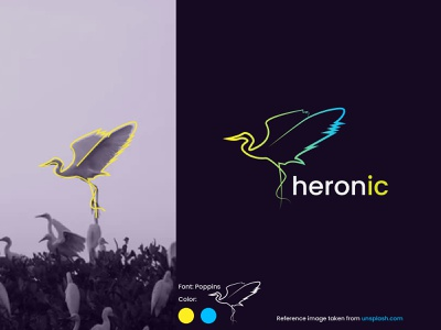 Heron IC logo design fins logo heron fins logo heron feather logo heron logo branding design branding brand identity brand design creative logo corporate logo design corporate logo logo design concept logodesign elegent logo logo creative logo design logo design