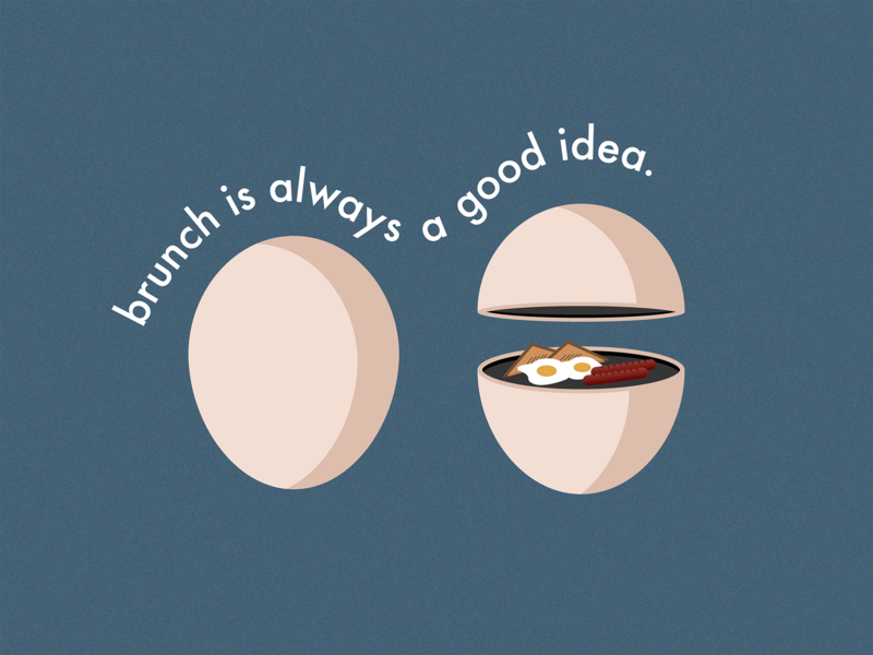 Brunch + Eggs foodie eggs brunch 3d art 3d typography logo isometric minimalist vector illustration graphic art design