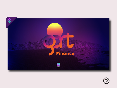 Gart Finance (SOLANA) landscape cover header headerdesign coverdesign bannerdesign banner ui badge badgelogo branding illustration icon logo design