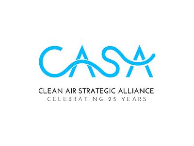 CASA 25 year anniversary logo logo design branding design branding logo