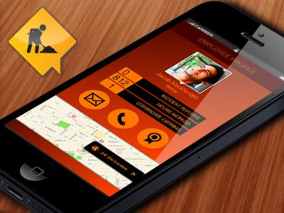 Employee Profile - Croovee mobile ui ios app