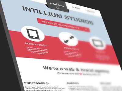 Flat Website Template webdesign website site flat ui