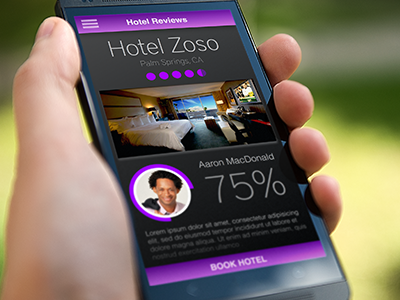 Hotel Review UI Experiment travel ui mobile android ios