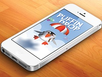 Puffin Drop - iOS Game ios game illustration
