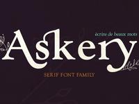 Askery Serif Font Family