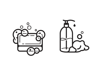 Keep calm and wash your hands bubble clean foam wash soap illustration icon vector