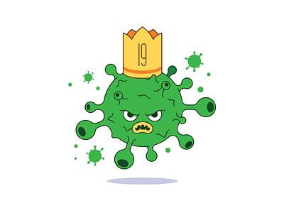 Evil virus biology disease coronavirus crown virus illustration vector