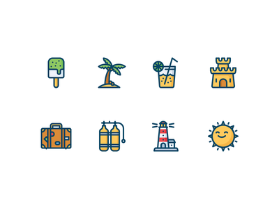 Summertime icons