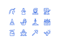 Fairy tales icons