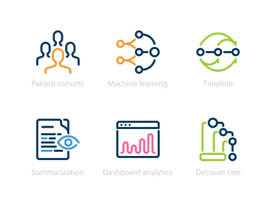 Icons for healthcare company