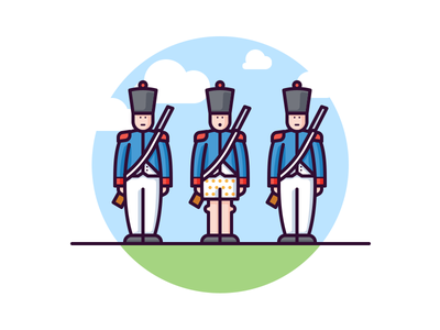 French army soldiers confused weapon war illustration french uniform underpants man soldier army