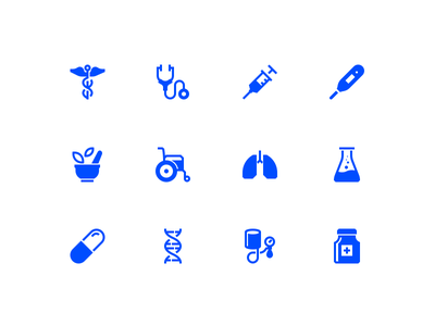 Healthcare icons pill dna syringe flask lungs icon wheelchair drug hospital medicine
