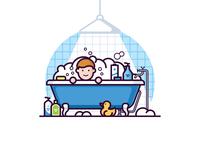 Child in the bath