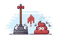 Poop and plunger