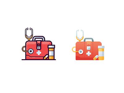 Medicine icon treatment health pill meds case medicine doctor illustration vector icon