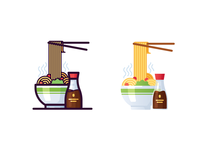 Noodles icons
