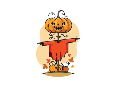 Pumkin scarecrow