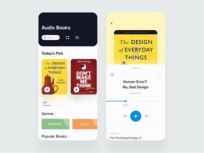 Audio Book App bookstore books design ux app design application mobile ui mobile app uxdesign uiux uidesign ui